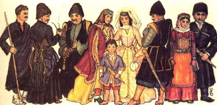 Nino Brailashvili. Georgians, Ethnic Groups and their Costumes - East Georgia (Kartli, Kartl-Kakheti)