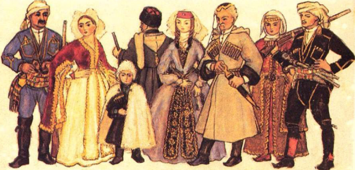Nino Brailashvili. Georgians, Ethnic Groups and their Costumes - West Georgia (Samegrelo-Guria, Imereti, Adjaria) (2)